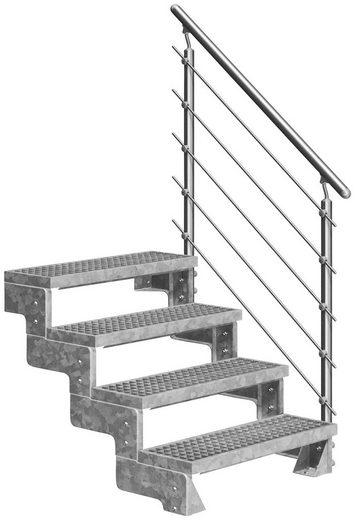 DOLLE Außentreppe »Gardentop«, für Geschosshöhen bis 88 cm, Gitterroststufen 100 cm