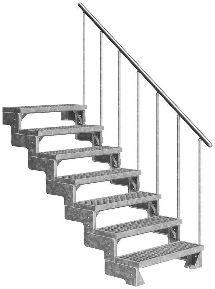 DOLLE Außentreppe »Gardentop«, für Geschosshöhen bis 154 cm, Gitterroststufen 80 cm | Baumarkt > Leitern und Treppen > Treppen | Dolle
