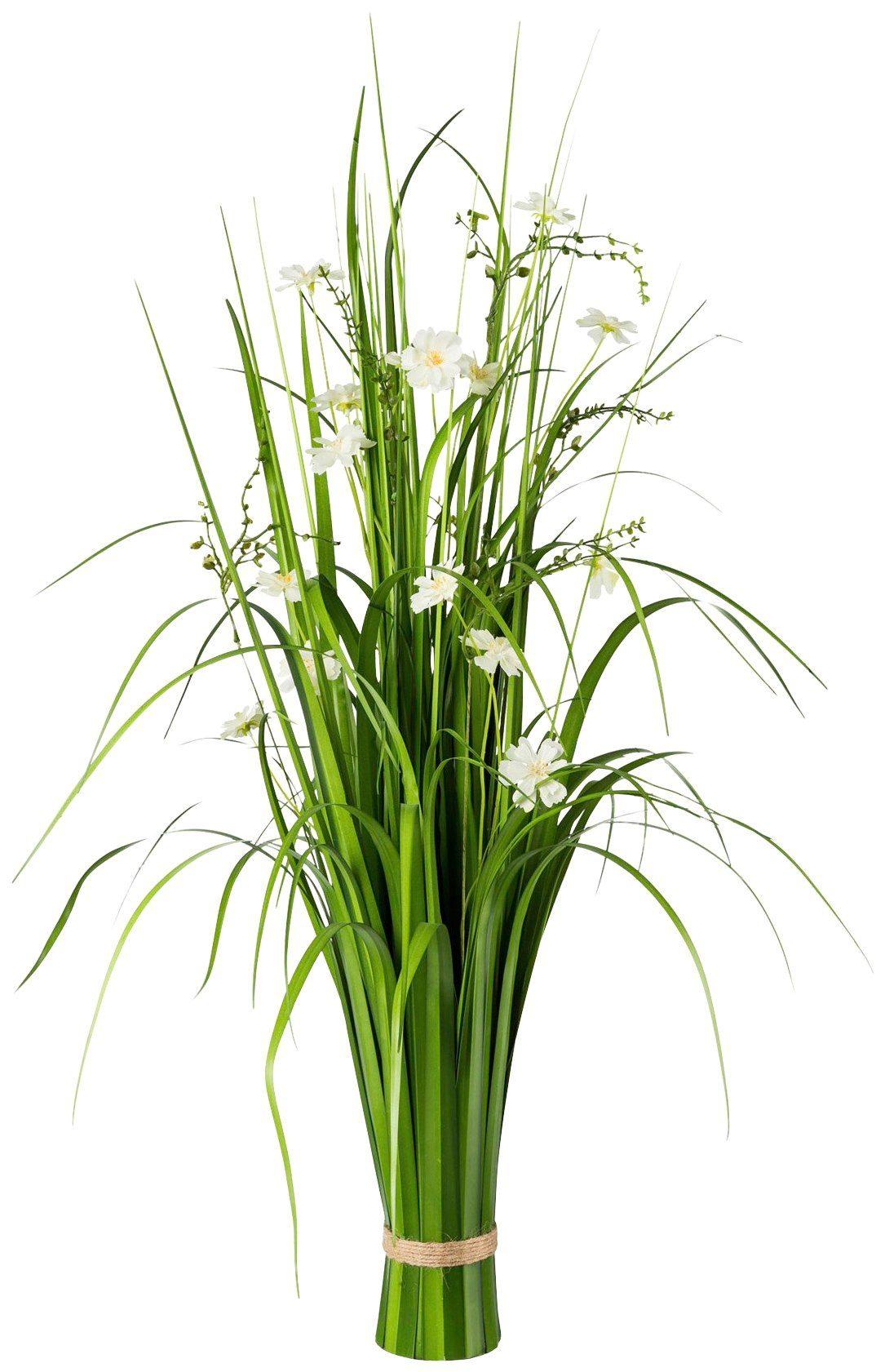 Kunstpflanze »Grasbusch mit Cosmea-Blüten«, H: 86 cm