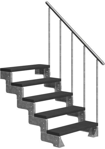 DOLLE Außentreppe »Gardentop«, für Geschosshöhen bis 110 cm, TRIMAX®-Stufen 80 cm