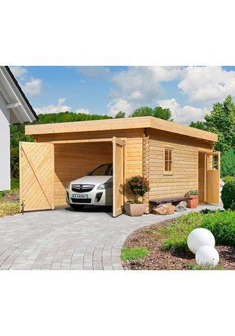 KARIBU Vienvietis garažas automobiliui »Flori...