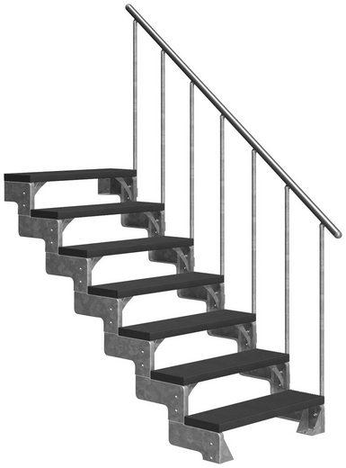 DOLLE Außentreppe »Gardentop«, für Geschosshöhen bis 154 cm, TRIMAX®-Stufen 80 cm