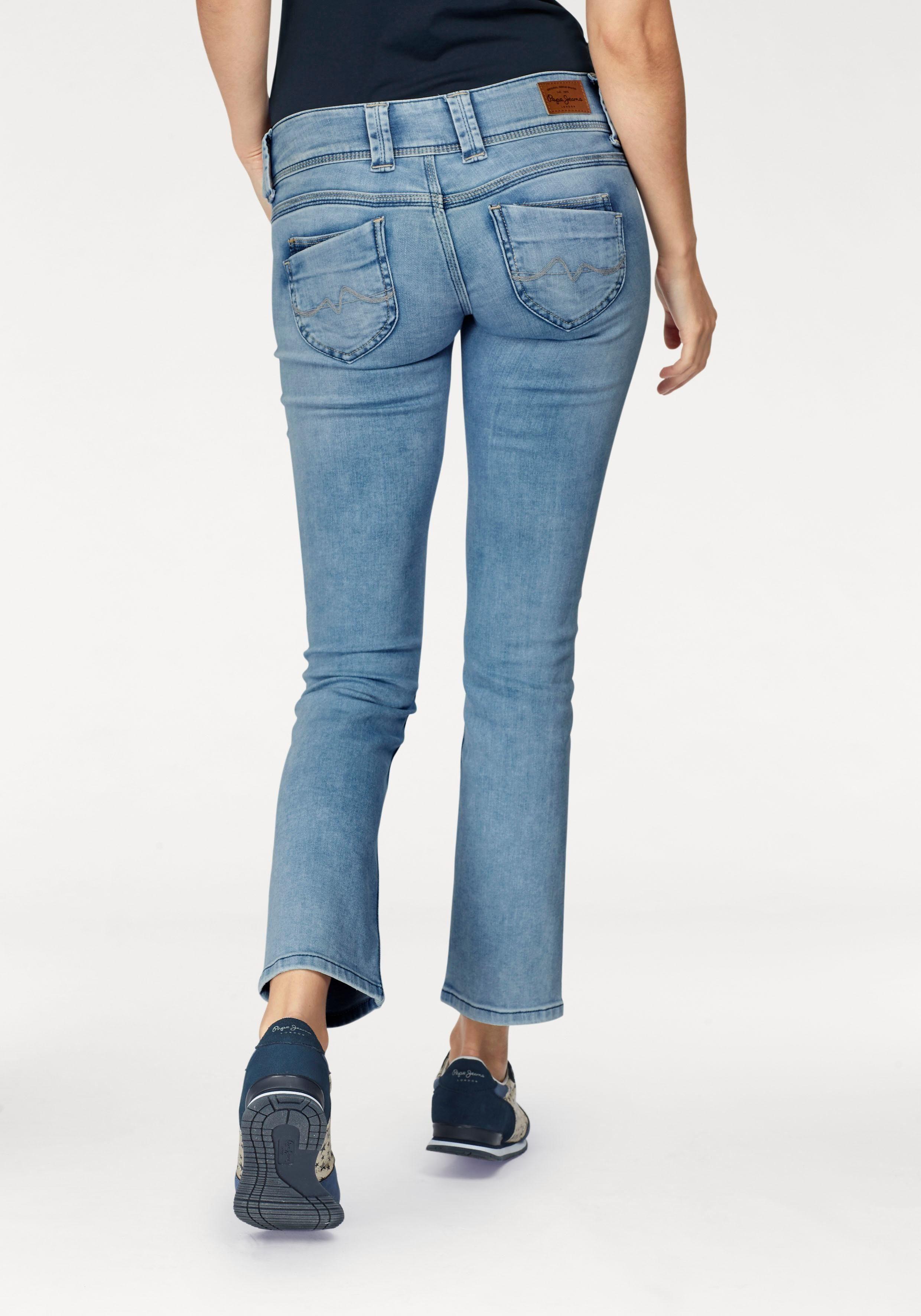 Pepe Jeans Straight Jeans »VENUS« mit breitem 2 Knopf Bund online kaufen | OTTO