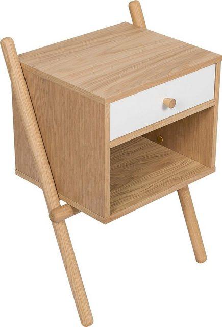 Woodman Nachttisch »Wiru«, in 2 verschiedenen Farben   Schlafzimmer > Nachttische   Braun   Woodman