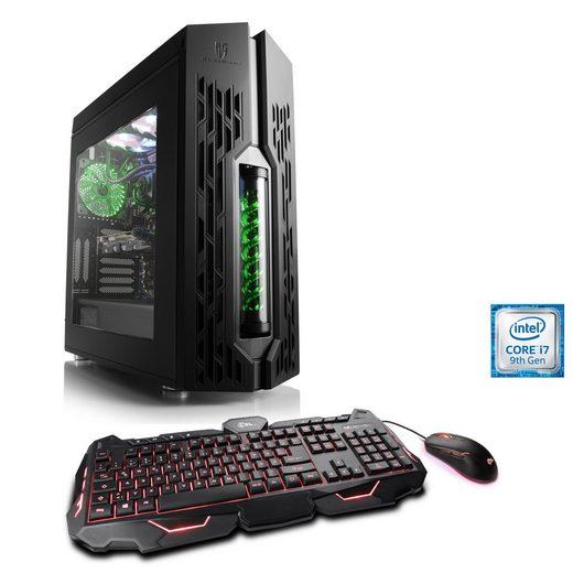 CSL Gaming PC, Intel Core i7-9700K, RTX 2070, 16 GB RAM, SSD »HydroX T9735 Wasserkühlung«