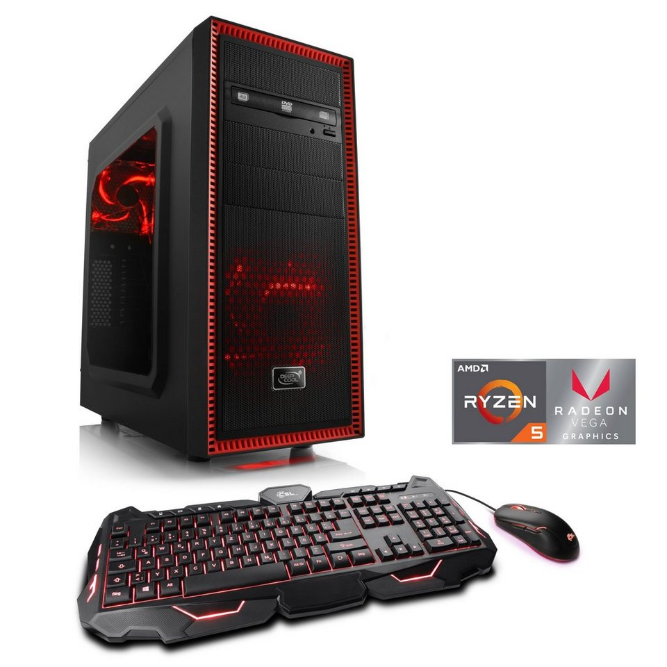 CSL Multimedia PC, AMD Ryzen 5 2400G, Vega 11 Grafik, 16GB, SSD »Sprint  T8161 Windows 10 Home« online kaufen | OTTO