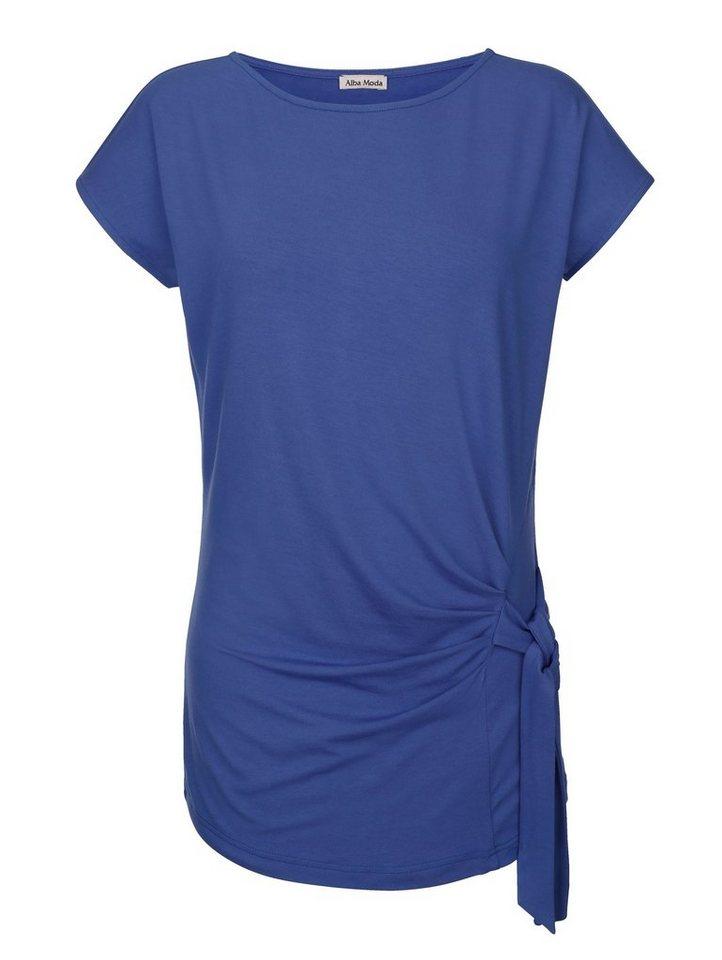Alba Moda Strandshirt mit Knotendetail