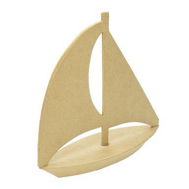 """Segelboot """"Pappmaché"""" 18 cm x 6 cm x 18 cm"""