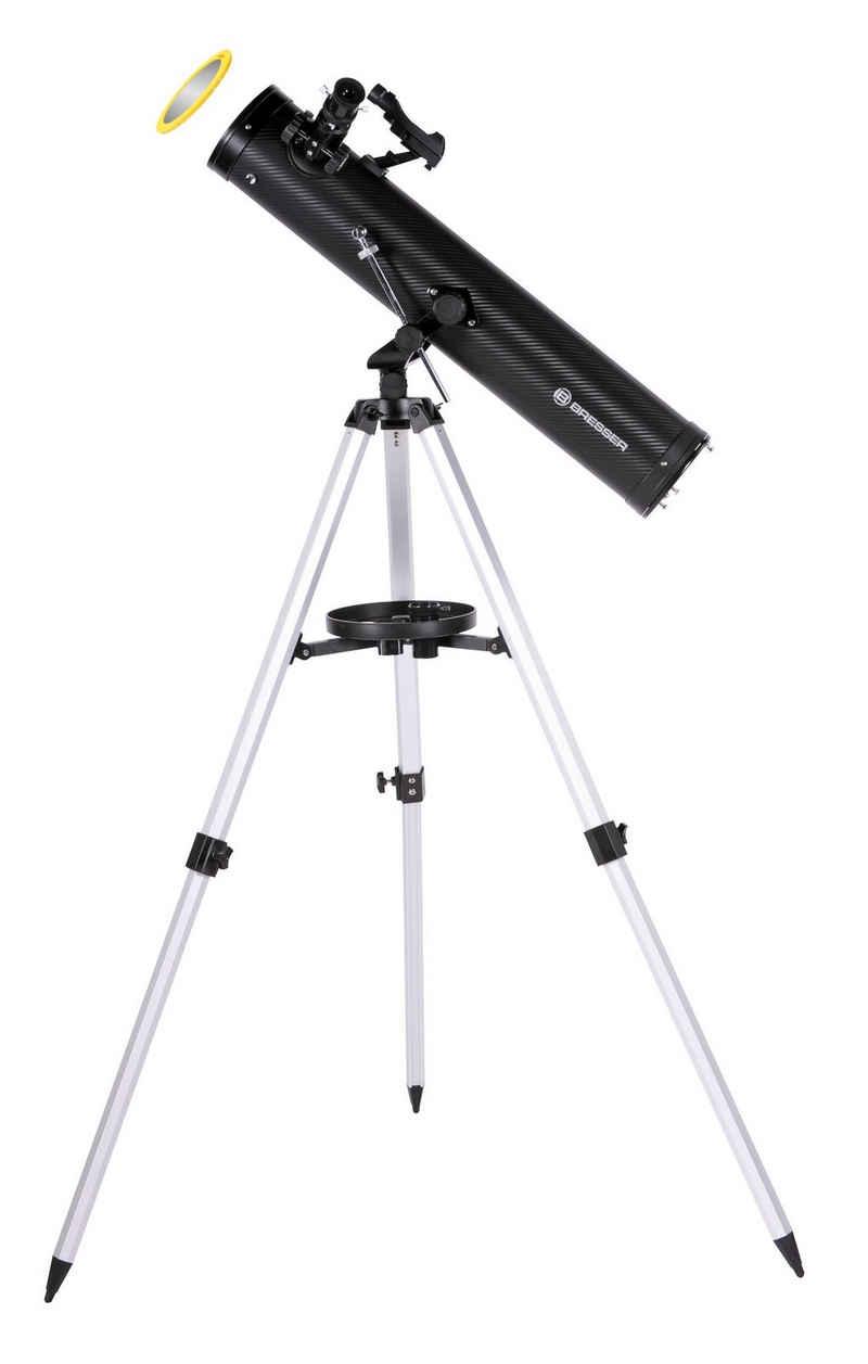 BRESSER Teleskop »Venus 76/700 AZ Spiegelteleskop mit Handy Adapter«
