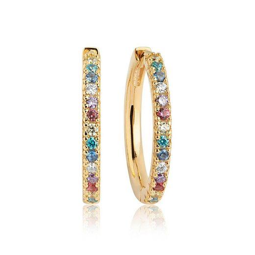 Sif Jakobs Jewellery Creolen mit glitzernden Zirkonia-Steinen »ELLERA GRANDE«