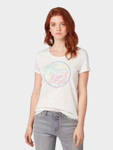 TOM TAILOR Denim T-Shirt »Maui & Sons: T-Shirt mit Print«