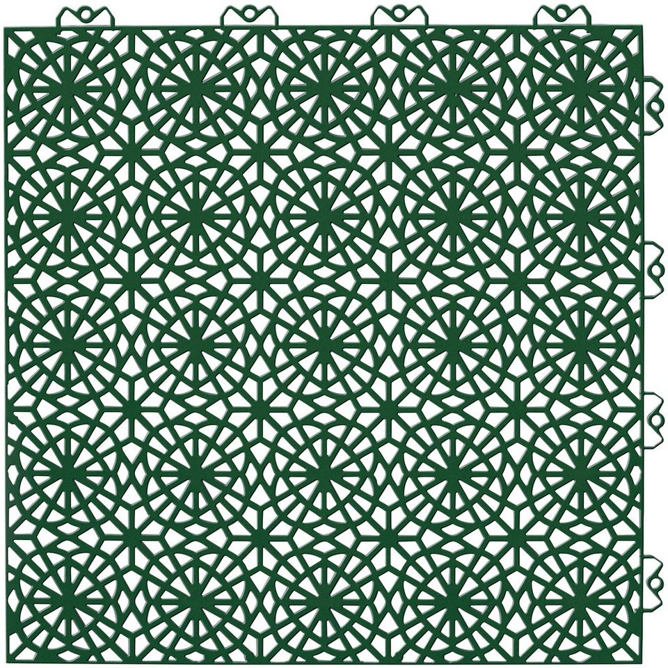 Kunststofffliesen » XL«, B/L/H: 38/38/1,1 cm, grün | OTTO