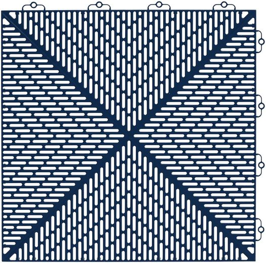Set: Kunststofffliesen »Unique« mit Klick-Verbindung, 35 Stk. für 5 m², dunkelblau
