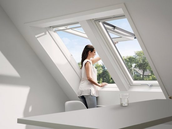 VELUX Dachfenster »GPU SK06«, Klapp- Schwingfenster, BxH: 114x118 cm