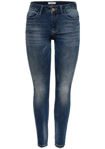JACQUELINE de YONG Skinny-fit-Jeans »YCAROLA« mit Destroyed-Effekten