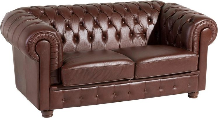 Max Winzer® 2-Sitzer Chesterfield Ledersofa »Bristol« mit edler Knopfheftung, Breite 172 cm