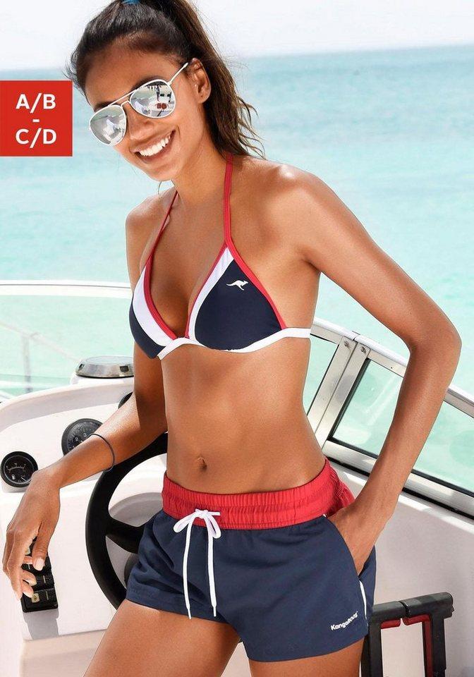 Bademode - KangaROOS Triangel Bikini im Colourblocking Style › blau  - Onlineshop OTTO