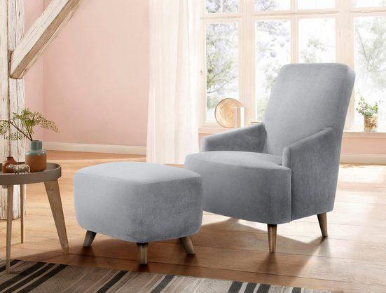 Home affaire Polstergarnitur »Slope«, Set aus Sessel und Hocker