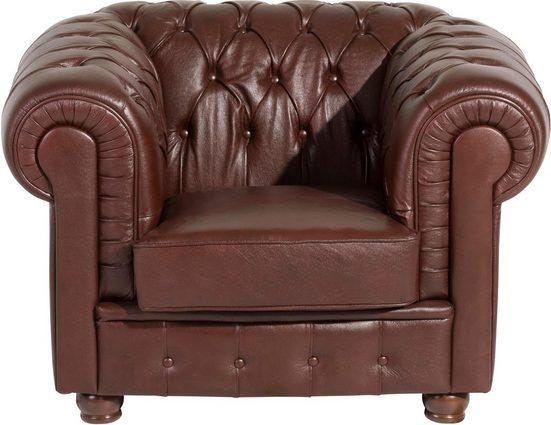Max Winzer® Sessel »Bristol«  mit edler Knopfheftung  Breite 110 cm