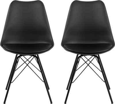 andas Esszimmerstuhl »Edel« (Set, 2 Stück), in zwei verschiedenen Bezugsqualitäten und weiteren Farbvarianten, Sitzhöhe 49 cm