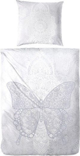 Bettwäsche »Butterfly«, Primera, mit großen Ornamenten