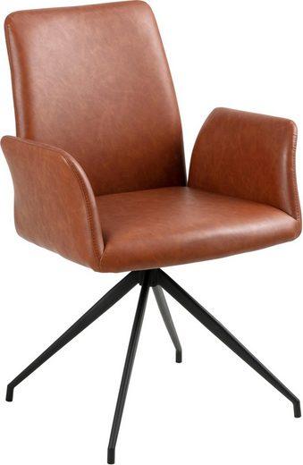 andas Drehstuhl »Nadine« mit einer praktischen Drehfunktion, mit schönen Metallbeinen, Sitzhöhe 47 cm