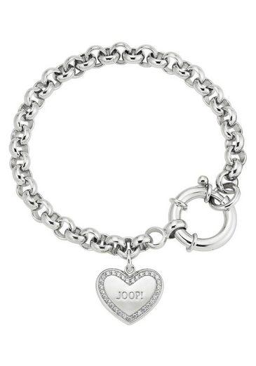 Joop! Silberarmband »Herz, 2025051«, mit Zirkonia