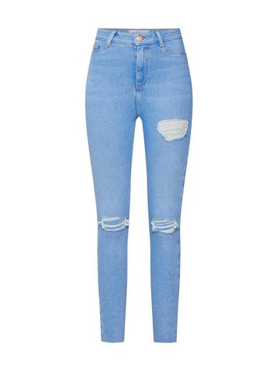 New Look Skinny-fit-Jeans »ROSIE BRIGHT THIGH GAP RIP DISCO«