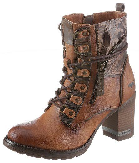 Mustang Shoes Schnürstiefelette mit Fantasydruck