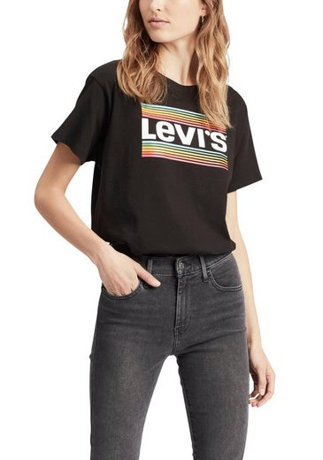 Levi's® T-Shirt »Graphic Sportswear Rainbow Tee Logo«, angesagter cropped Style
