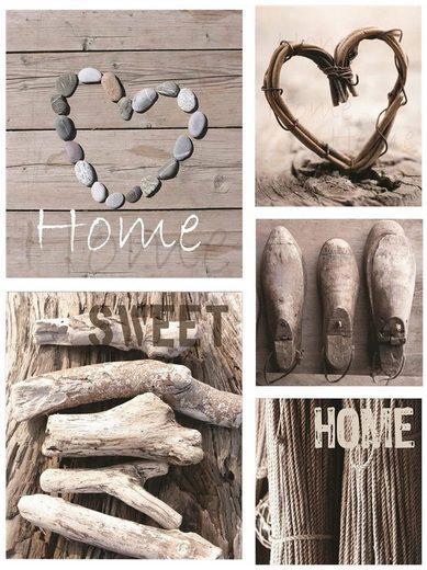 Leinwand »home sweet home«