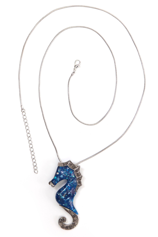 COLLEZIONE ALESSANDRO Lange Kette »Filiz« Seepferdchen mit Kunstharzkörper
