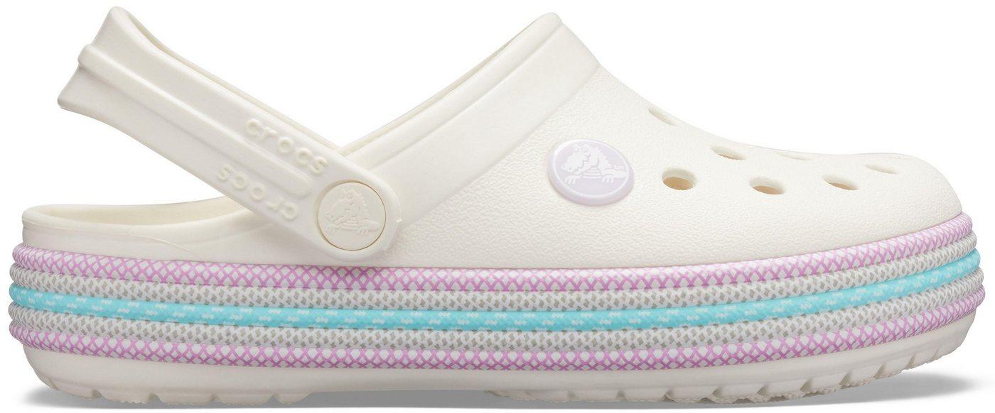 Damen Crocs »Crocband Sport Cord Clog« Clog mit schwenkbarem Fersenriemen rosa, weiß | 00191448395749