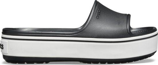 Crocs »Crocband Platform Slide« Pantolette mit moderner Plateausohle