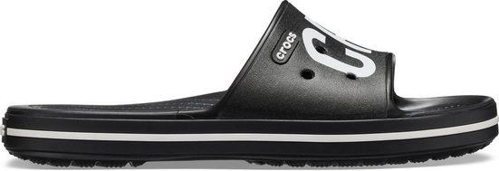 Crocs »Crocband III Printed Slide« Pantolette mit auffälligem Logoschriftzug