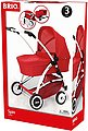 BRIO® Puppenwagen »Puppenwagen Spin rot mit Schwenkrädern«, Bild 4