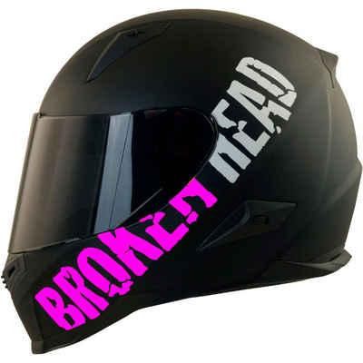 Broken Head Motorradhelm »BeProud Pink« (mit schwarzem und klarem Visier), inklusive 2 Visieren