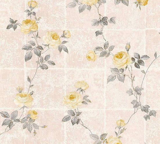 LIVINGWALLS Vliestapete »Château 5 mit Rosen floral«