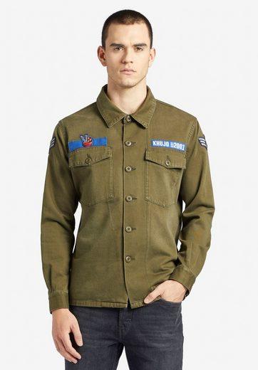 khujo Fieldjacket »USSAIN VICTORY« mit verschiedenen Patches