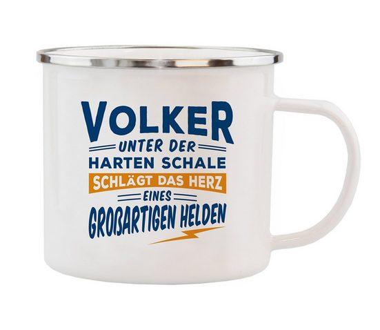 HTI-Living Echter Kerl Emaille Becher »Volker«
