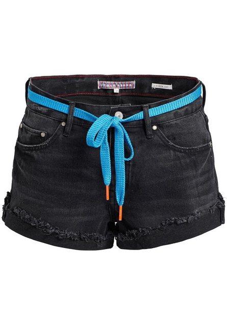 khujo Hotpants »ADELHEID« im 5-Pocket-Stil mit ausgefranstem Saum | Bekleidung > Hosen > Hotpants | khujo