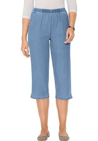 Капри-джинсы в нежный Baumwoll-Qualit&...