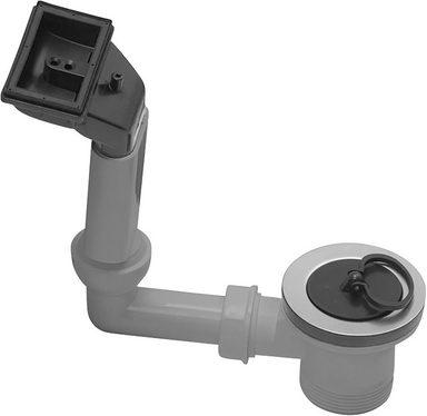 CORNAT Sanitärarmaturenzubehör »Rezyklat Spültisch Ab- und Überlaufgarnitur«, aus Recycling Kunststoff