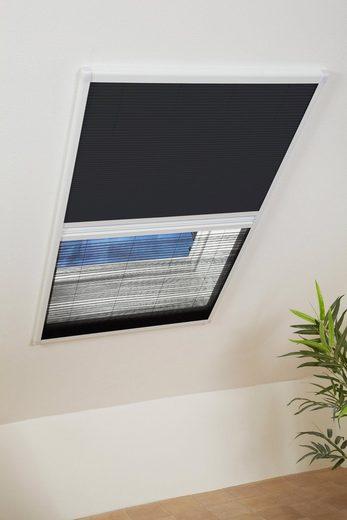 HECHT Insektenschutz-Dachfenster-Rollo weiß/schwarz, BxH: 110x160 cm