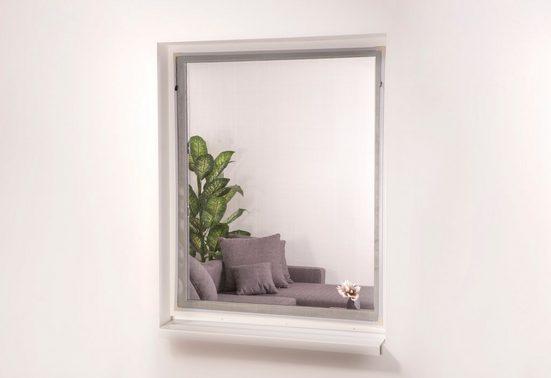 HECHT Insektenschutz-Fenster »EASY«, weiß/anthrazit, BxH: 130x150 cm