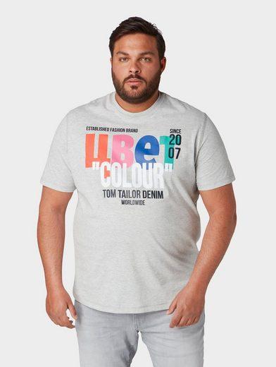 TOM TAILOR Denim T-Shirt »T-Shirt mit Schrift-Print«