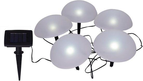 näve LED Gartenleuchte »HALBKUGEL«, Solar-Dekoleuchten, 5er-Set