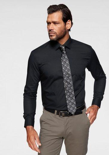 Man's World Businesshemd mit Brusttasche