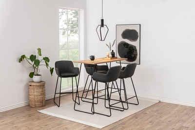 andas Barhocker »Lene« (Set, 2 St), aus einem schönen Webstoff Bezug, mit einem Metallgestell, Sitzhöhe 76 cm