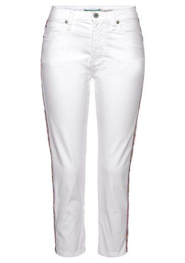 Please Jeans 7/8-Hose »P66M« mit Galonstreifen Pailletenbesatz